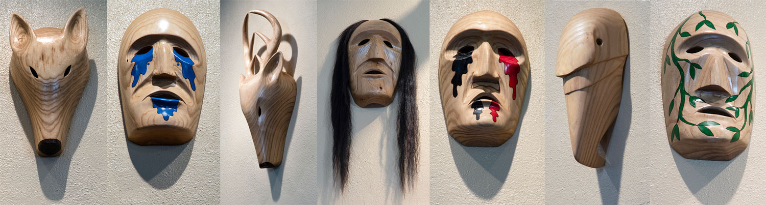 Cherokee Clan Masks Carved by Billy J  Welch